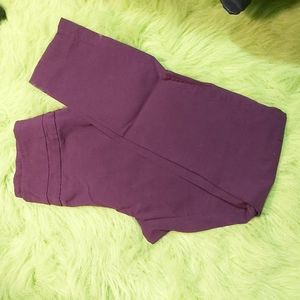 🤯BUY1,GET1FREE RW&CO burgundy stretchy pants